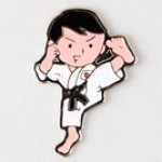 Metal Lapel Badge - Karate Kid